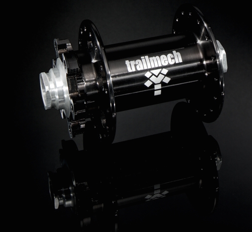 Trailmech product on the black reflected background